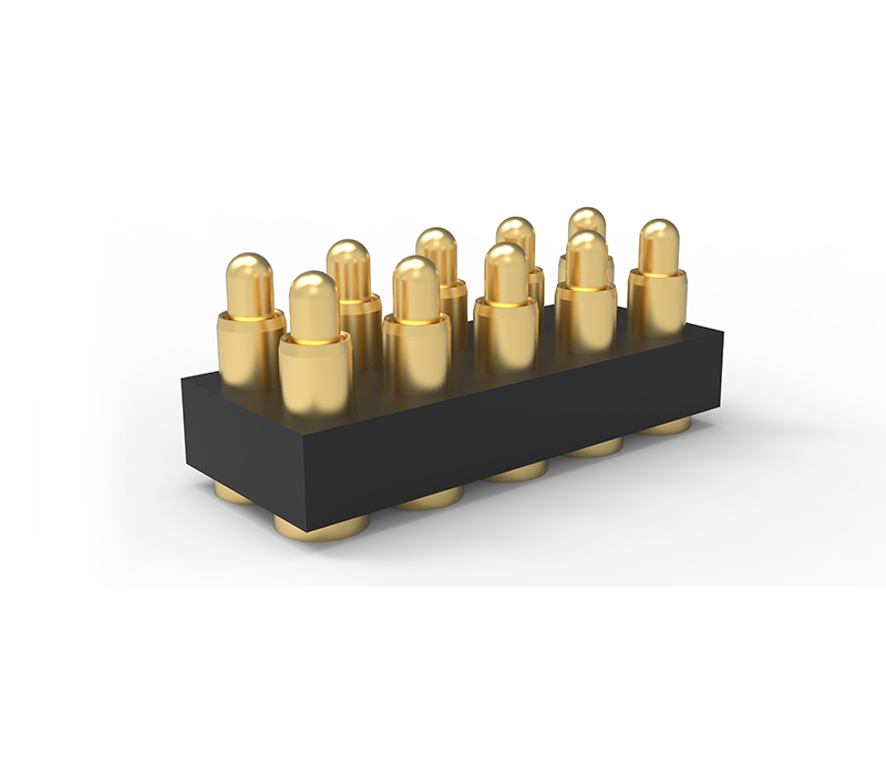 SMT双排10Pin弹簧针连接器