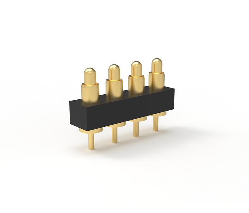 广州插板式4Pin单排弹簧针连接器