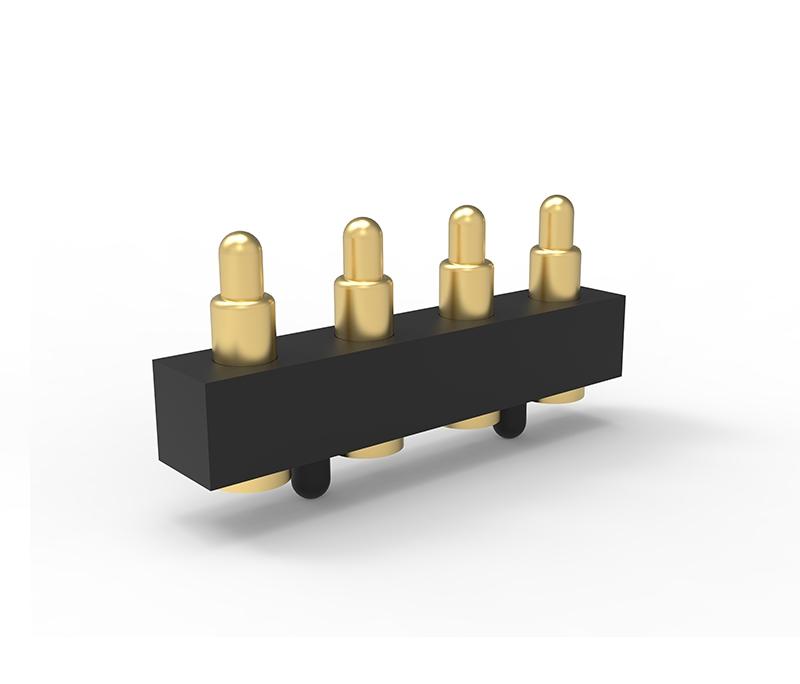 精准定位沉板4pin弹簧针连接器