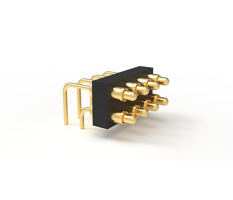 折弯式8Pin 双排Pogo pin连接器