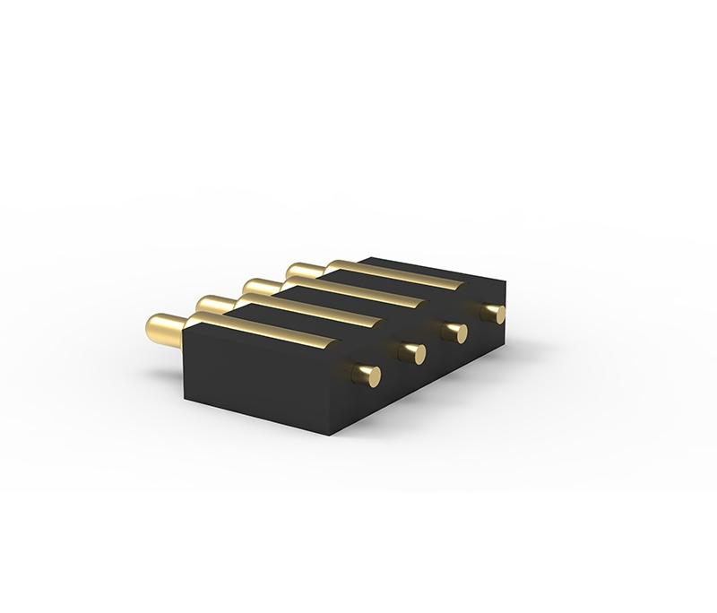 侧贴4Pin弹簧针连接器