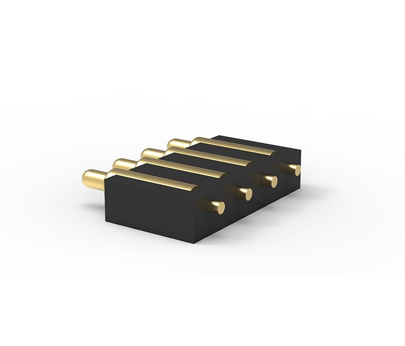 侧贴4Pin电池充电弹簧针连接器