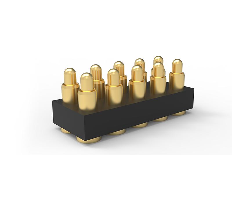 广州贴片式双排10Pin弹簧针连接器
