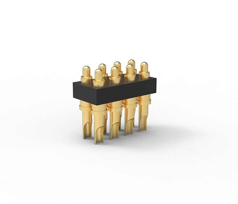 焊线式双排8Pin弹簧简针连接器
